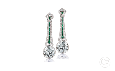 Hanging Round Diamond Earrings